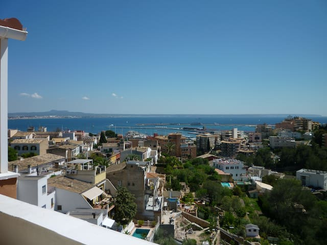 Fab Penthouse with fab sea views, terrace and pool - Palma - Apartament