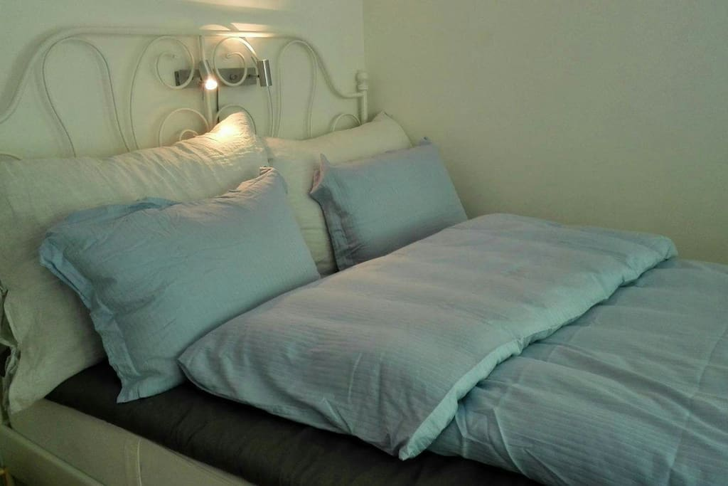 Super comfortable double bed! Own balcony