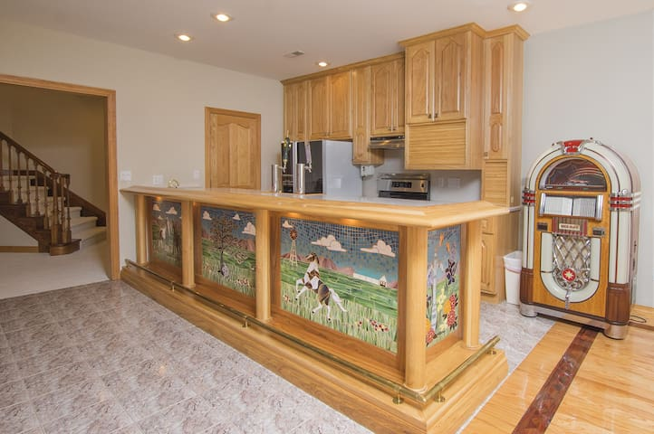 Bar Area and Lower Level Kitchen
