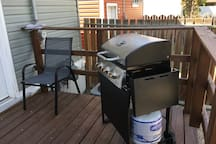 New Self Starting BBQ on back deck.