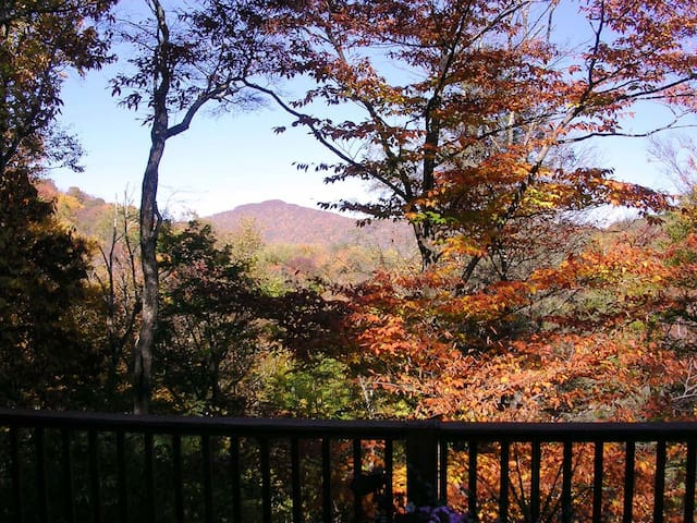 Mountain views from the deck