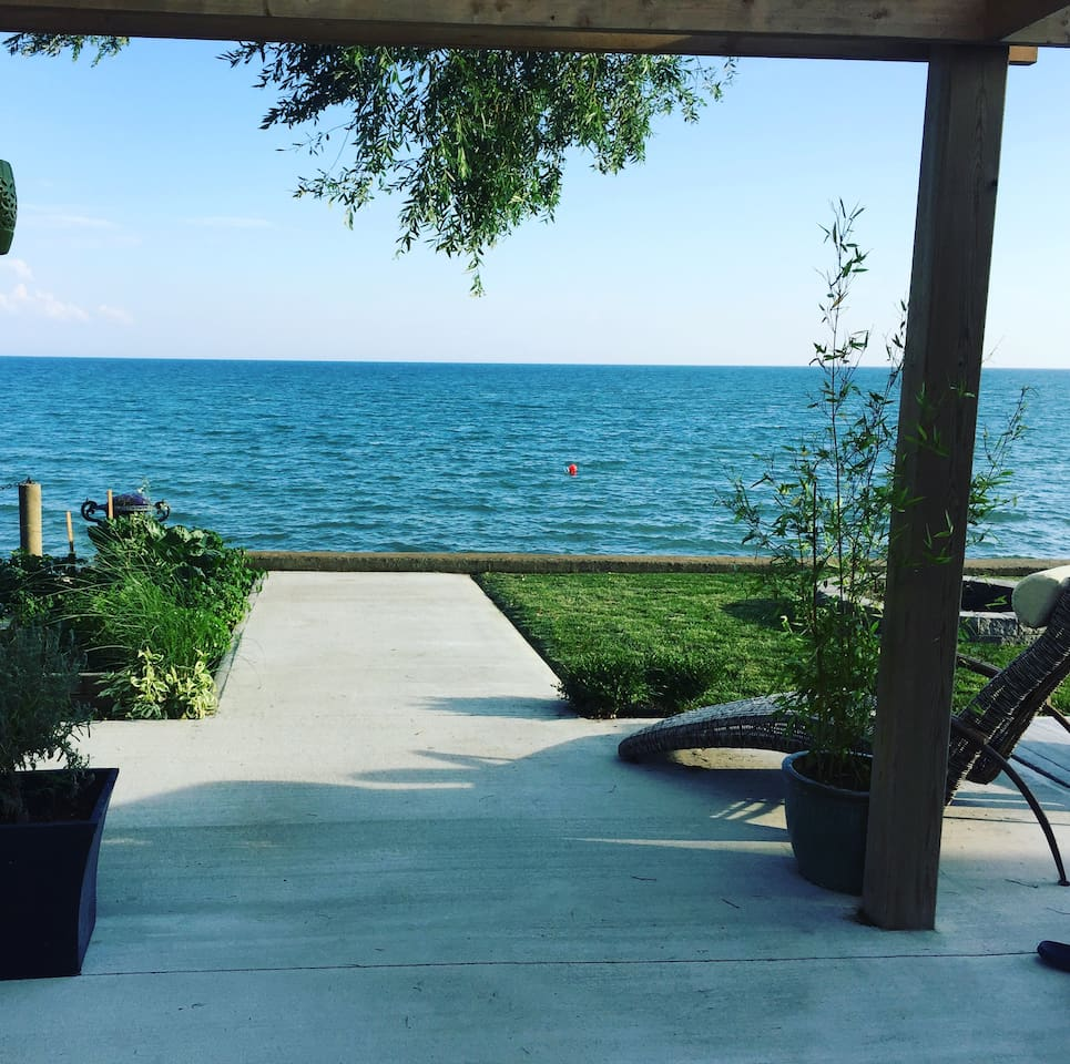 Enjoy lake views of Lake Erie from the property