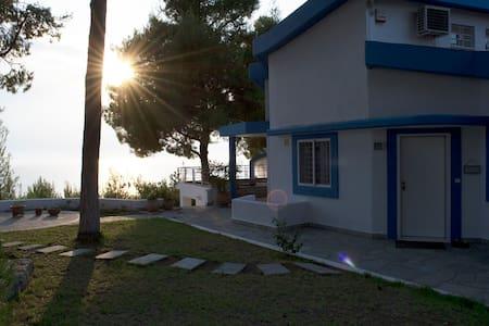 "sani beach ""gallery"" villa for 6 guests - Halkidiki"