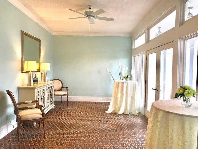 Our sunny solarium off the great room which also serves as a secondary entrance.