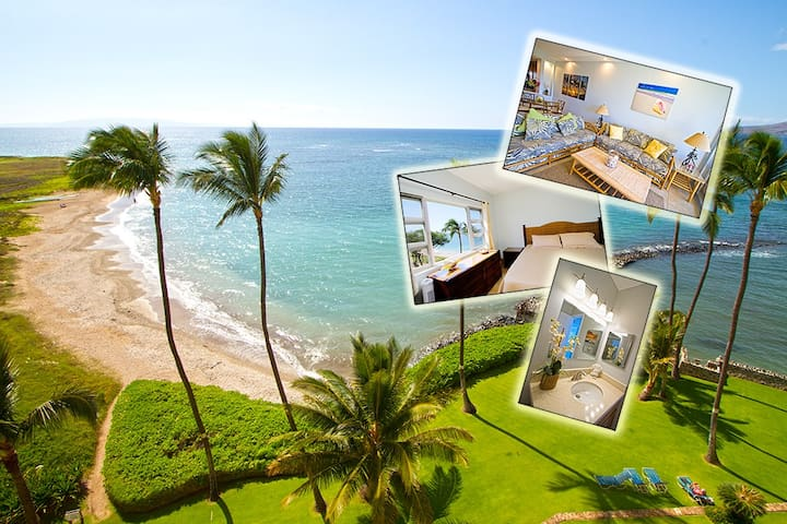 NEW - Penthouse: Ocean View - Right on the Beach! - Kihei - Condominium
