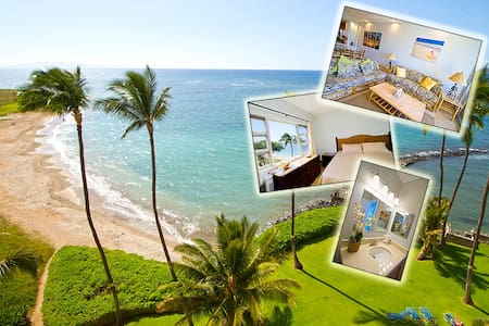 NEW - Penthouse: Ocean View - Right on the Beach! - Kihei