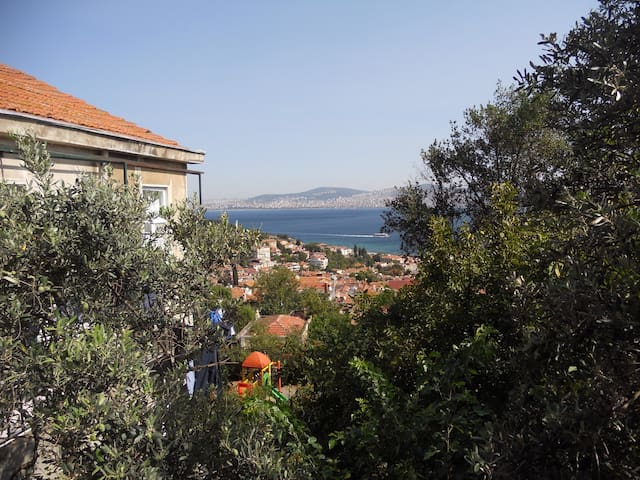 2+1 lovely view & private garden in Heybeliada - Adalar - Leilighet
