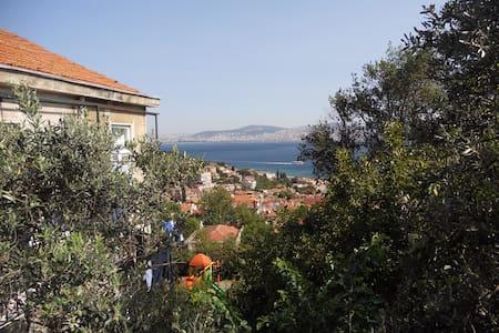 2+1 lovely view & private garden in Heybeliada - Adalar - 公寓