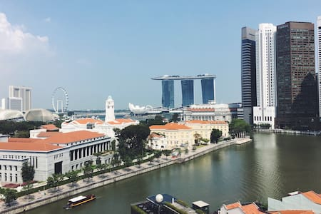 City central double bedrm w Singapore River view - Singapur - Pis