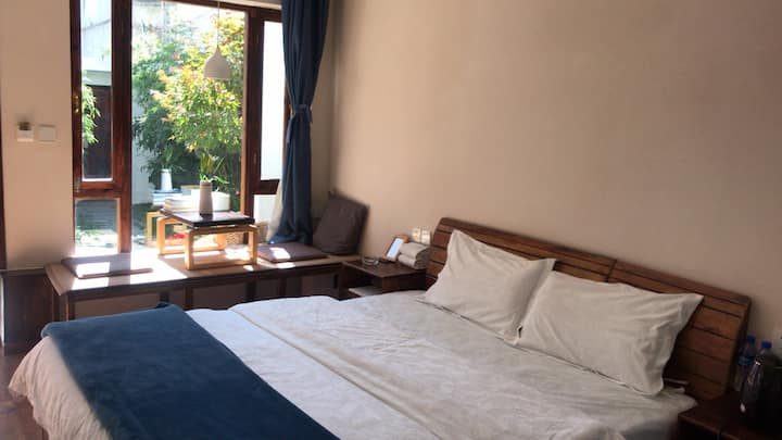 Garden-View Room,  1 King Bed, 1st floor