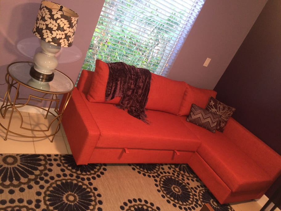 Living Room, Sofa converts to Queen Bed
