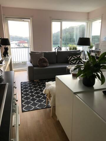 Fin gavel-etta i Mölndal med lyxig balkong
