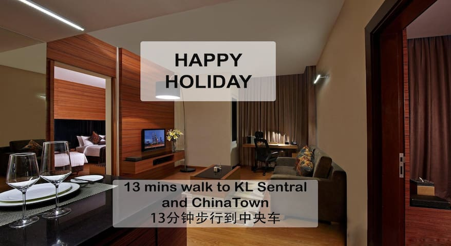 #6 ~15 min walk to Chinatown,City Centre15分钟步行到唐人街 - Kuala Lumpur - Apartamento
