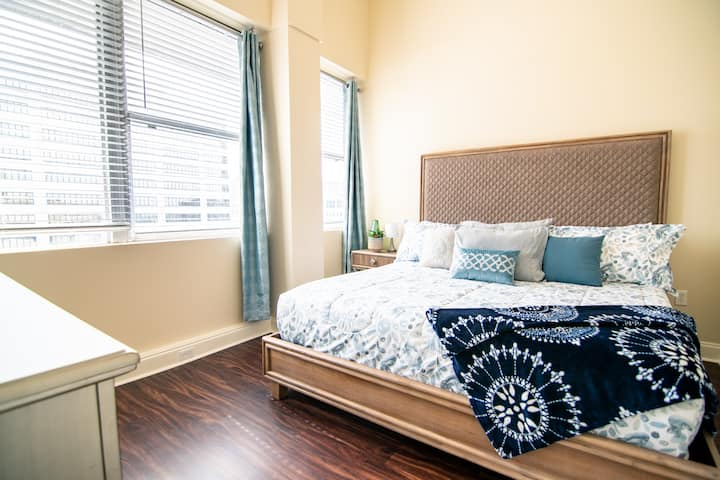 LARGE 2 bedroom Nola condo, AMAZING views near FQ!
