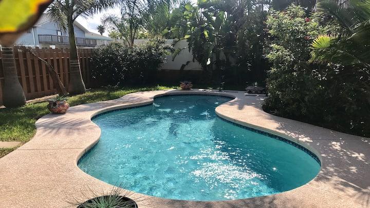 Immaculate! Beach home,  private pool  & hot tub
