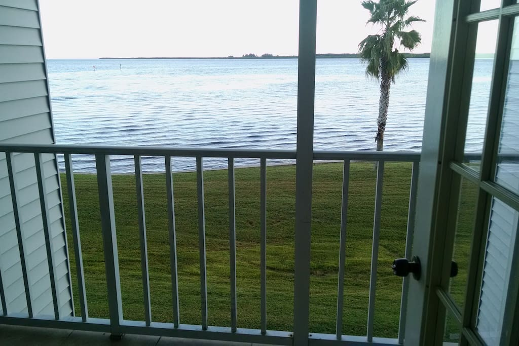 This wide expansive waterview will greet you as you begin your vacation in Port Charlotte/El Jobean. Large patio doors open and  invite you to sit on the lanai for your morning coffee.