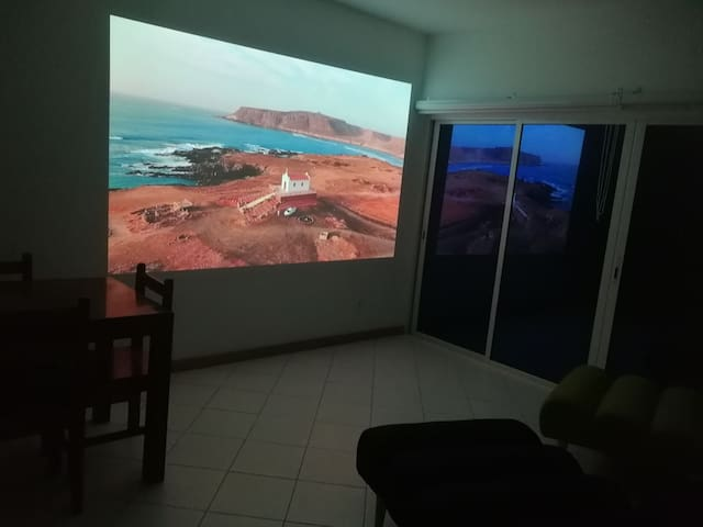 Homecinema and sound system.  Our drone shot, this scenary just 5 minute walk from us.