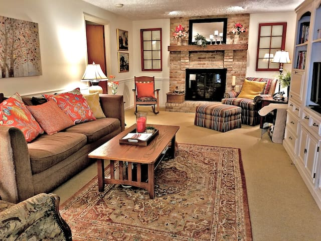 Your guest room leads to family room.