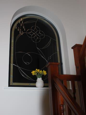 Mackintosh window at Westwood Lodge