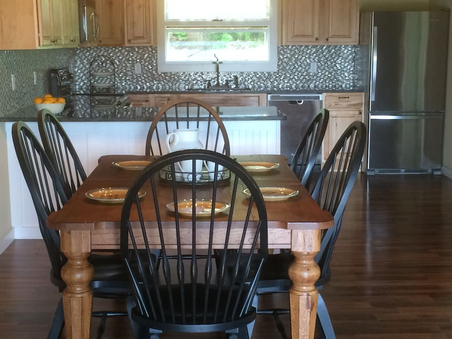 Dining room table into Kitchen