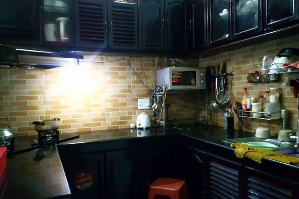 Kitchen where we can teach you cook Vietnamese food