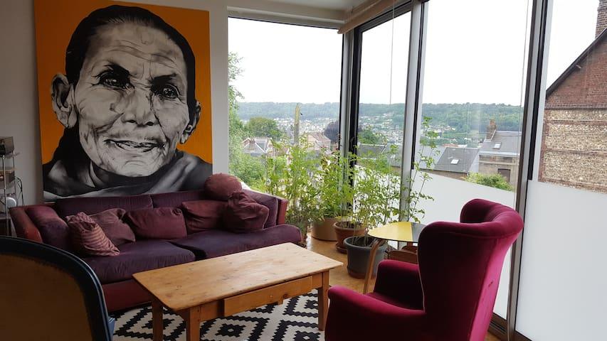 Maison d'architecte proche centreville metro - Rouen - House