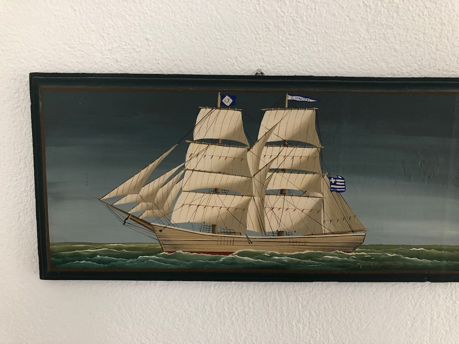 A piece of maritime art in the house.