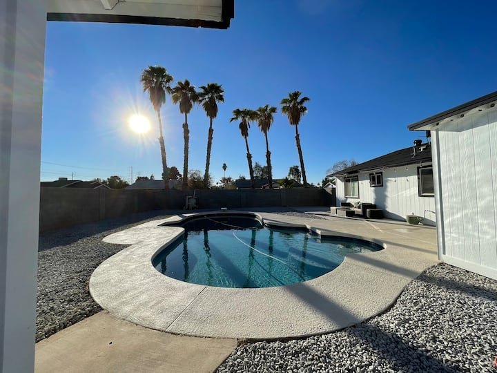 Remodeled home with new pool and pet friendly yard
