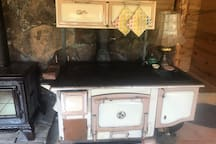 Old stove oven