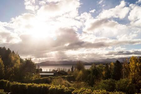 Cabañas Huala Hue con vista al lago
