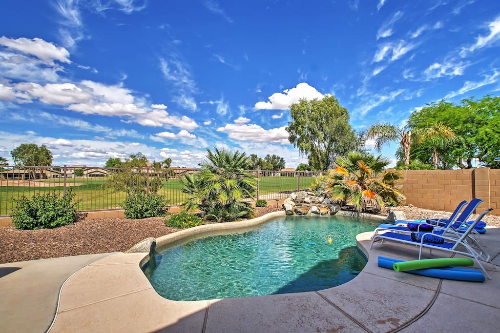 You'll love relaxing by the alluring pool.