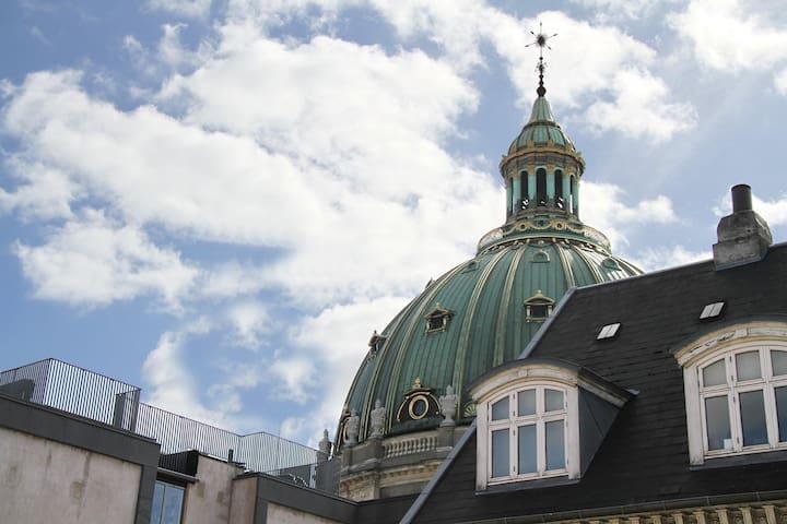 """The roof of: """"Marmor Kirken"""""""