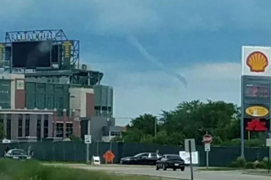 Tornado by Lambeau field, Summer 2017.