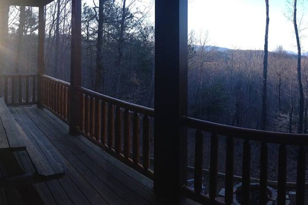 Sunset view from back porch