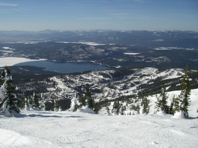 View of Whitefish Lake from Ski area