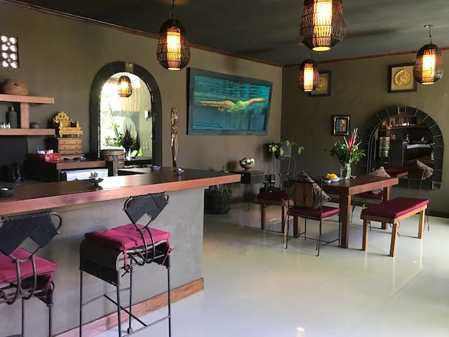 Kitchen Bar and Dining Area