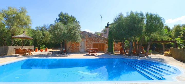 Fantastic Country Estate Sa Costa with Pool, Garden, Air Conditioning & Wi-Fi; Parking Available, Pets Allowed