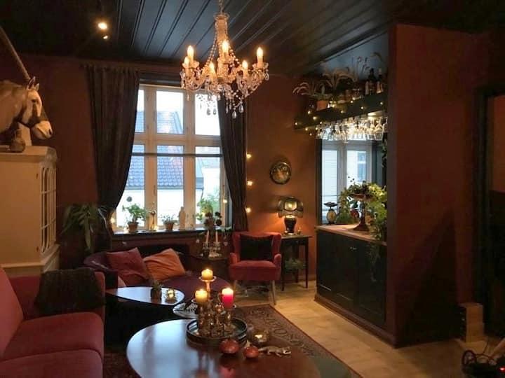 Bohemsk leilighet med terrasse