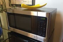 Quick Microwave to warm food or drinks.