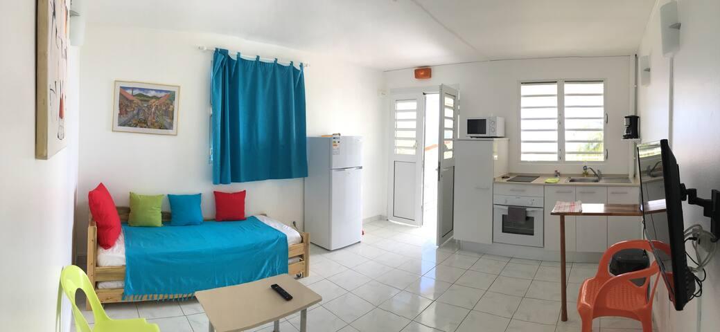 Résidence aux vents F2 vue sur mer - Sainte-Luce - Appartement en résidence