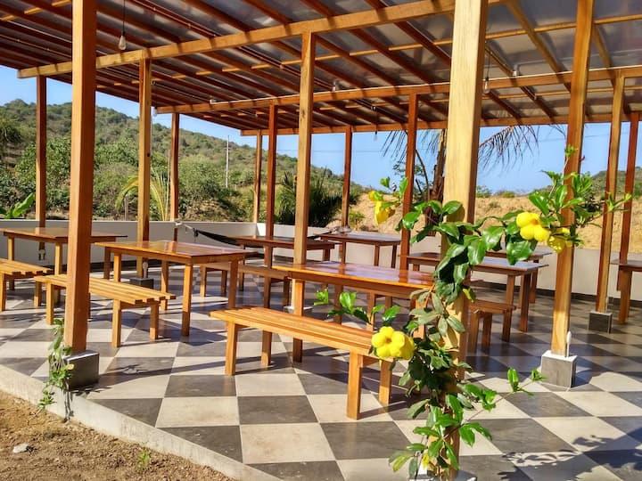 Espacio para acampar en Hotel La Costa