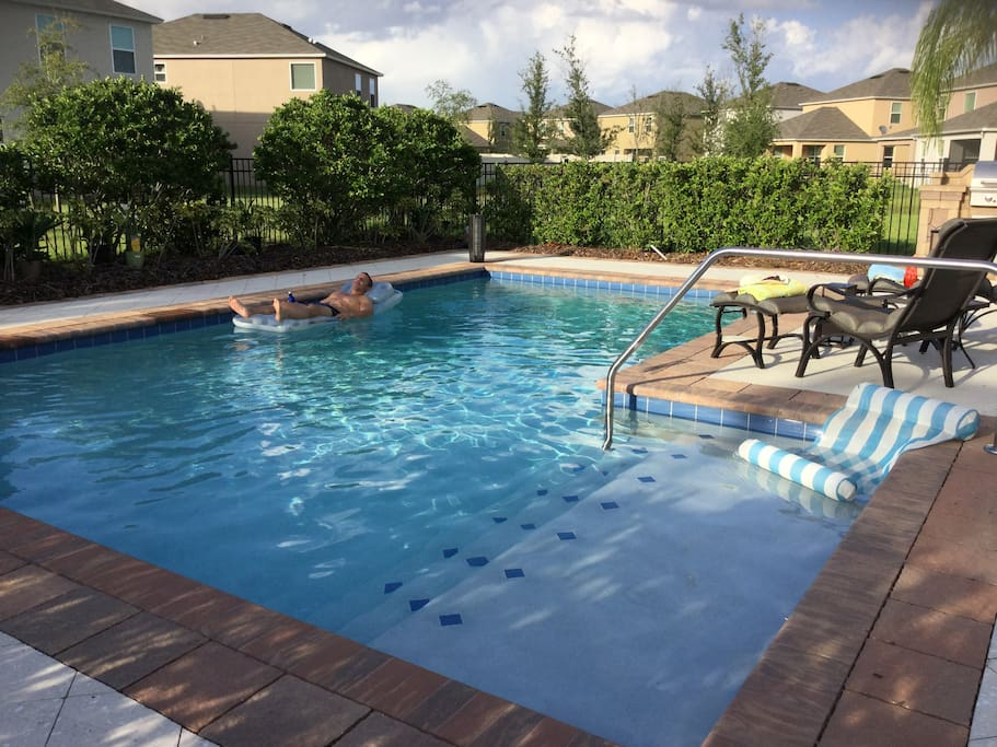 Relax in the private 10,000+ gal heated pool