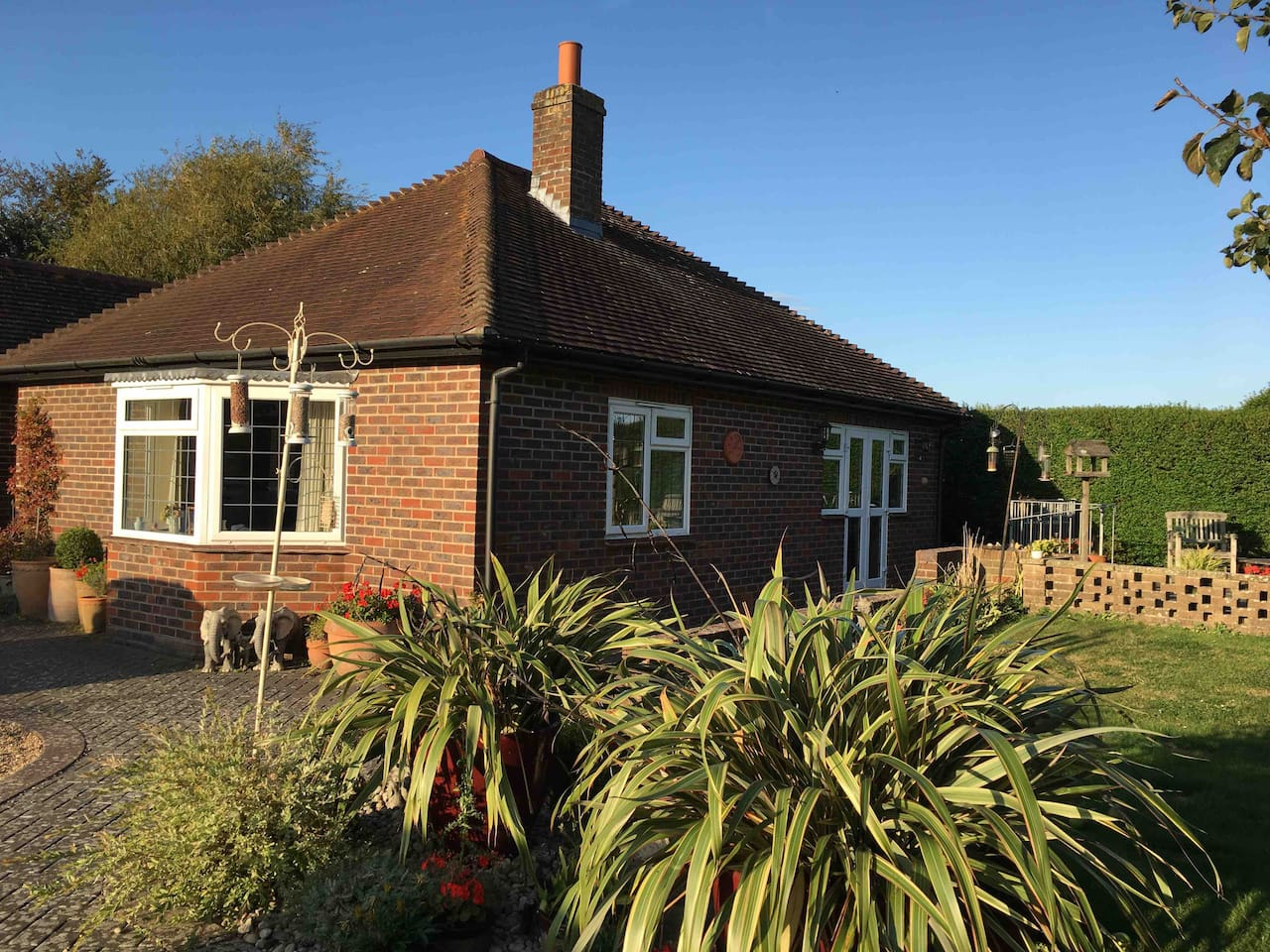 This property is self contained which is attached to our bungalow with plenty of parking space available.  Spacious Gardens and seating area.