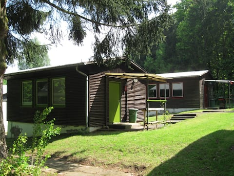 Stay at an authentic East German hiking cabin.