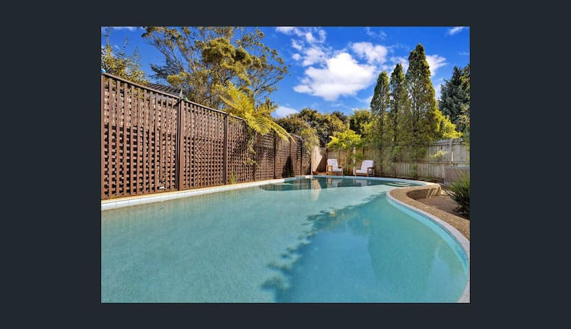 Belrose family home with pool