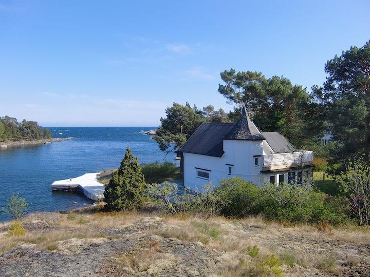 Hus med havstomt i Oskarshamn
