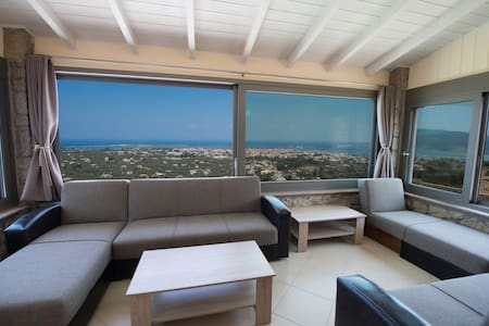 Cozy 1 bedroom apartment with panoramic sea view - Lefkada - Osakehuoneisto