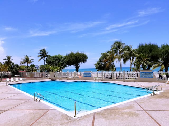 We have one of the nicest pools in Isla Verde