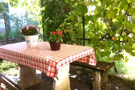 Comfortable big apartment with wifi near lake Como - Hus