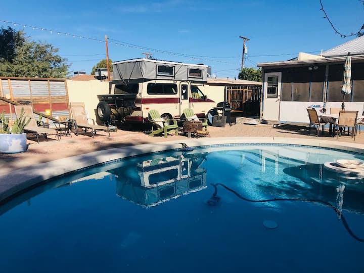 Vintage campervan gem in historic downtown Mesa